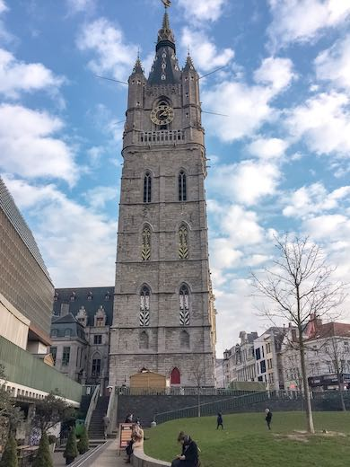 Belfry of Ghent seen from a distance