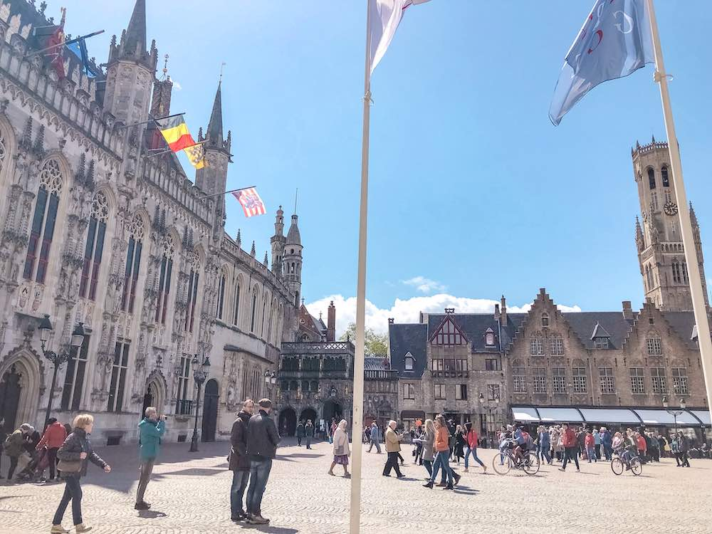 Burg square in Bruges, one of the best Belgium cities
