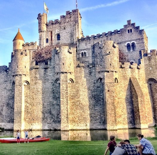 Gravensteen or Castle of the Counts in Ghent Belgium