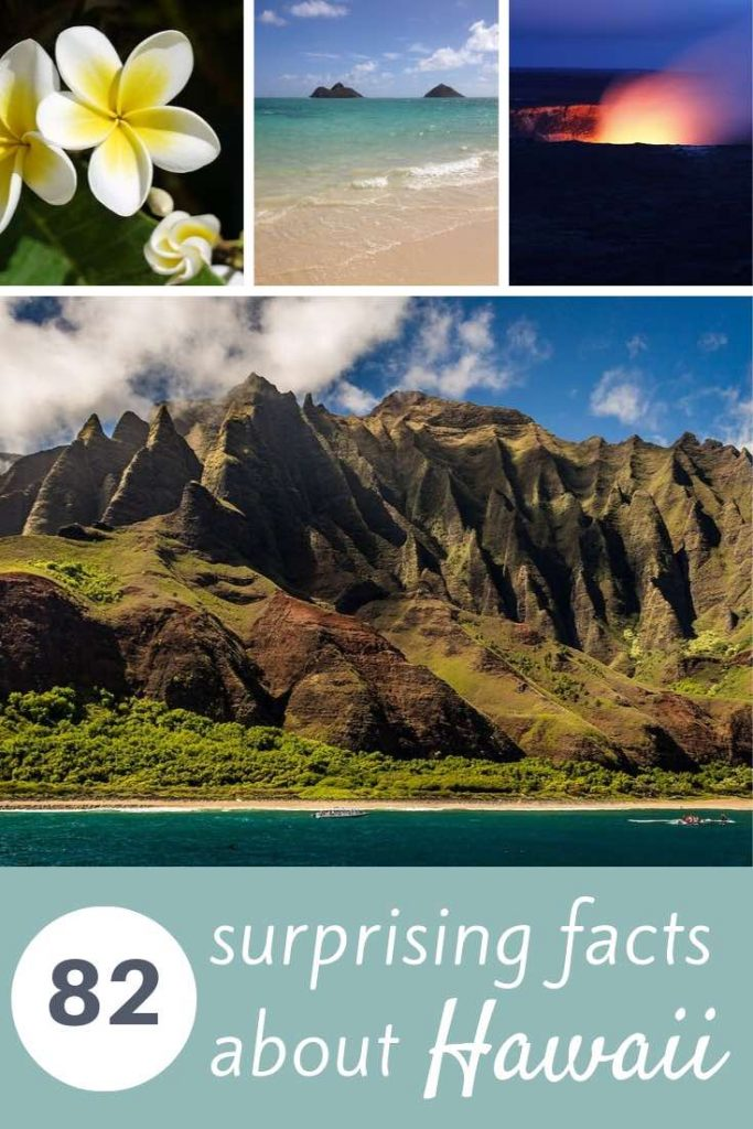 Did you know that every Hawaiian island has its signature flower? And that Hawaii is home to a US National Monument that's larger than all other US National Parks combined? Check out these and 80 more facts about Hawaii in this ultimate list. #travel #hawaii #facts #maui #kauai #oahu #bigisland