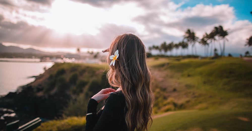 Another fact about Hawaii: it makes a difference whether you wear the flower over your left or right ear