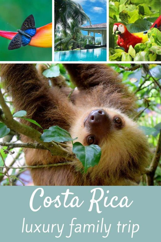 Here's how to experience the ultimate luxury vacation in Costa Rica with kids. #travel #familytravel #latinamerica #centralamerica #costarica