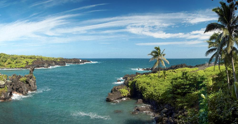 Wai'anapanapa State Park is one of the most popular Road to Hana stops