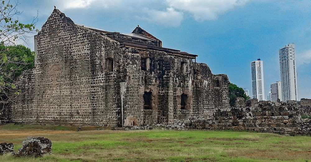 Ruins of Panama Vieja, the real original center of Panama City