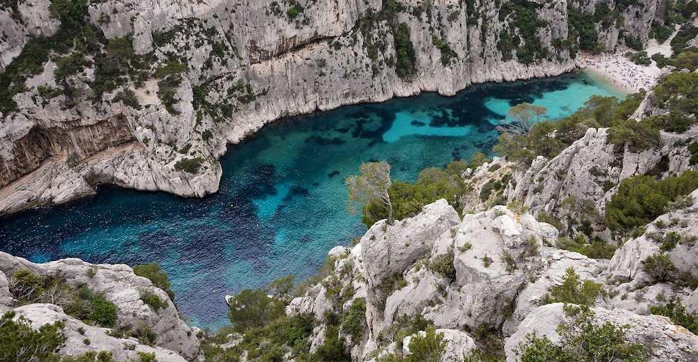 Calanque d'En-Vau, the most spectacular Calanques in Cassis, Provence