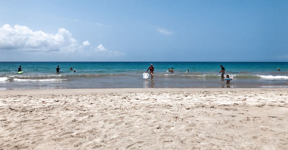 Hapuna beach is one of the most popular white sand beaches on Big Island Hawaii