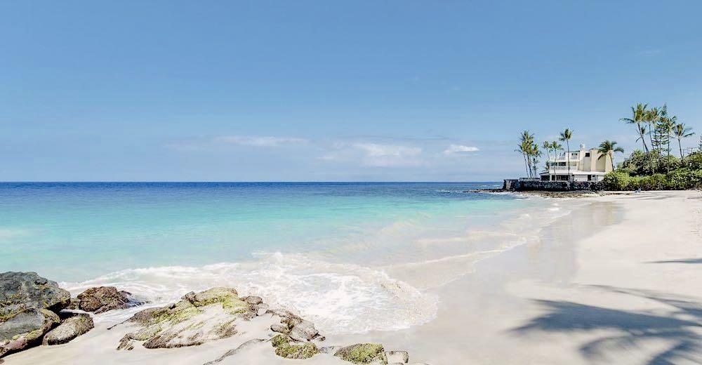 Magic Sands beach is one of the only sandy Kona beaches near downtown Kailua-Kona