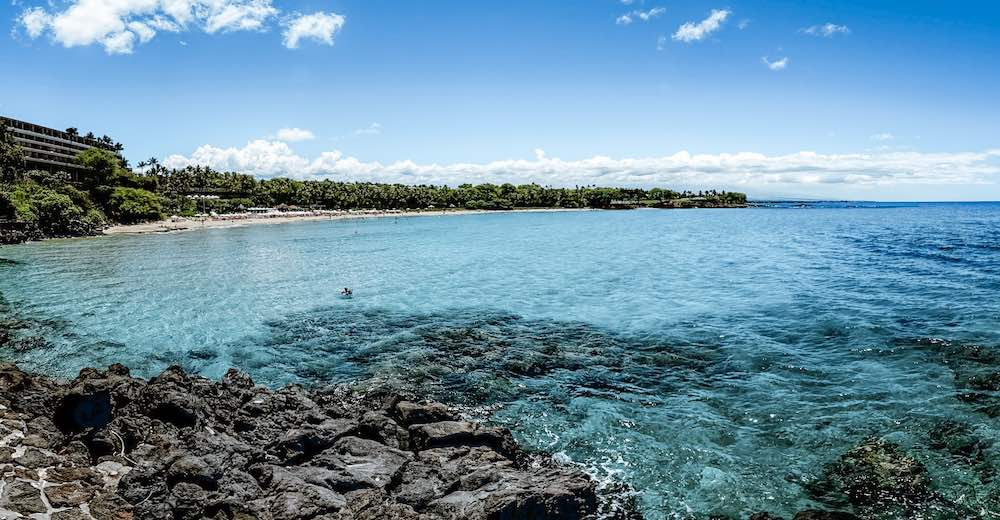Mauna Kea beach is one of the Big Island best beaches for families