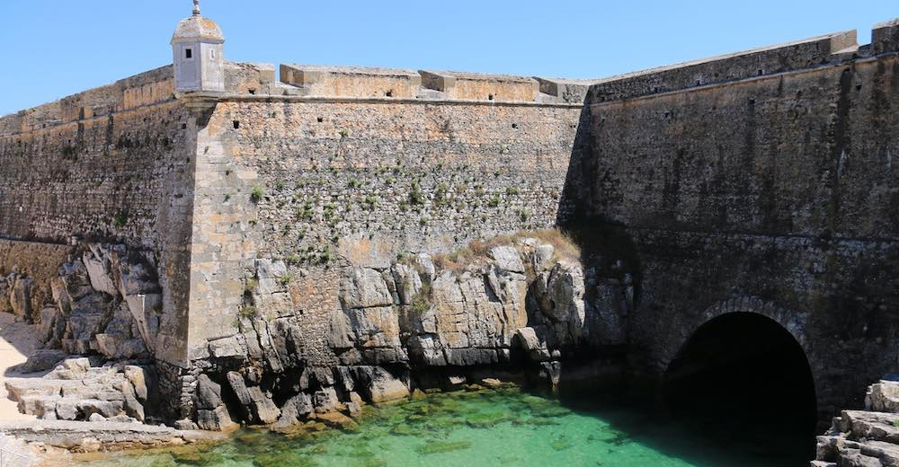 Fort at the Peniche peninsula is one of the places to see in Portugal