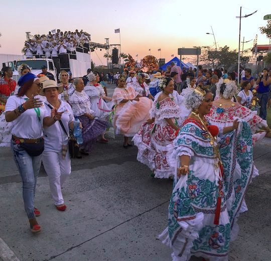 Comparsas during carnavales Panama