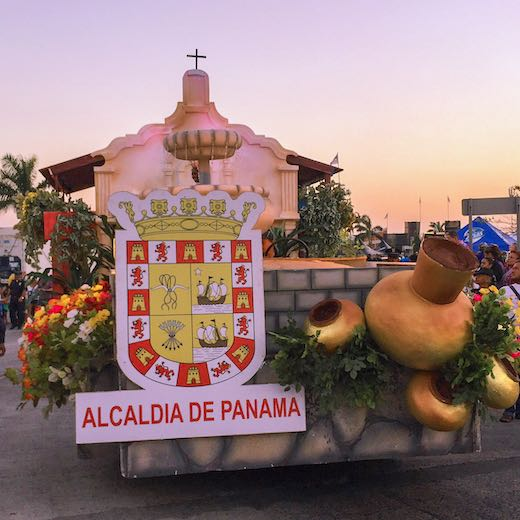 Decorated float during carnaval Panama