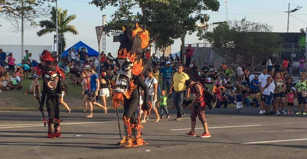Diablos sucios during the carnival celebrations in Panama City
