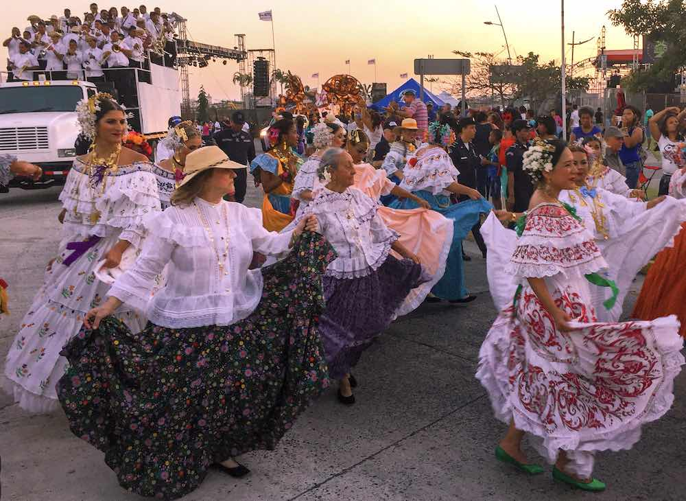 Comparsas during the Panama celebrations for carnival