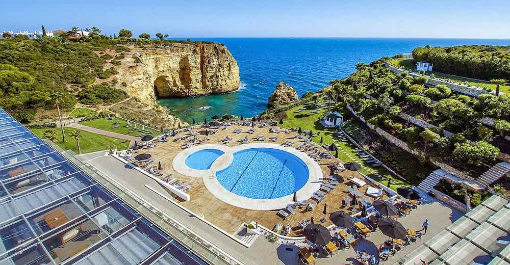 Tivoli Carvoeiro Algarve resort is the best Carvoeiro hotel thanks to the stunning views over Vale de Covo beach
