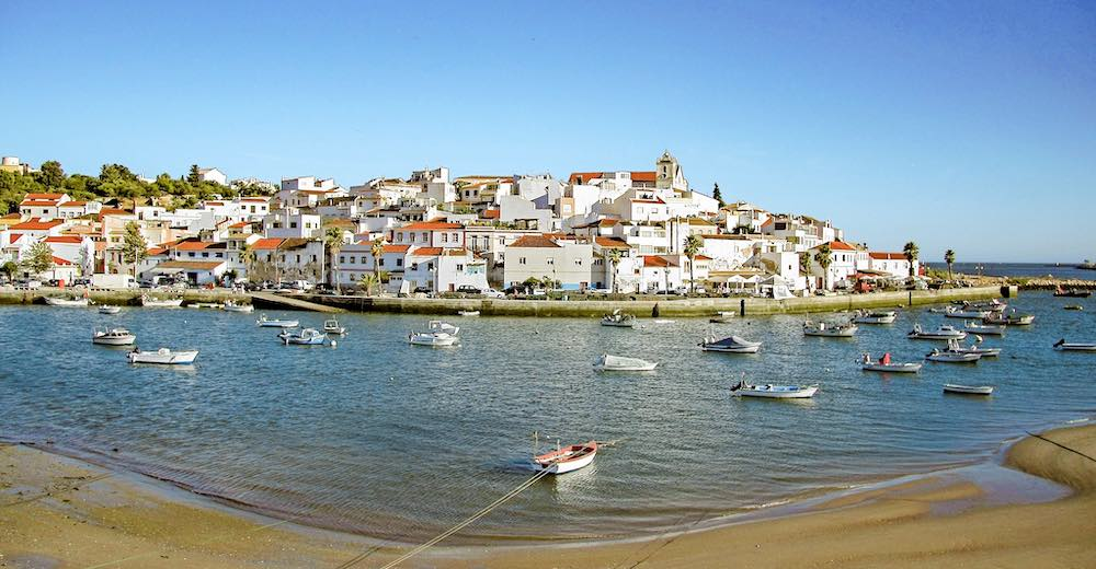 Ferragudo is a fishing town near Carvoeiro in Algarve