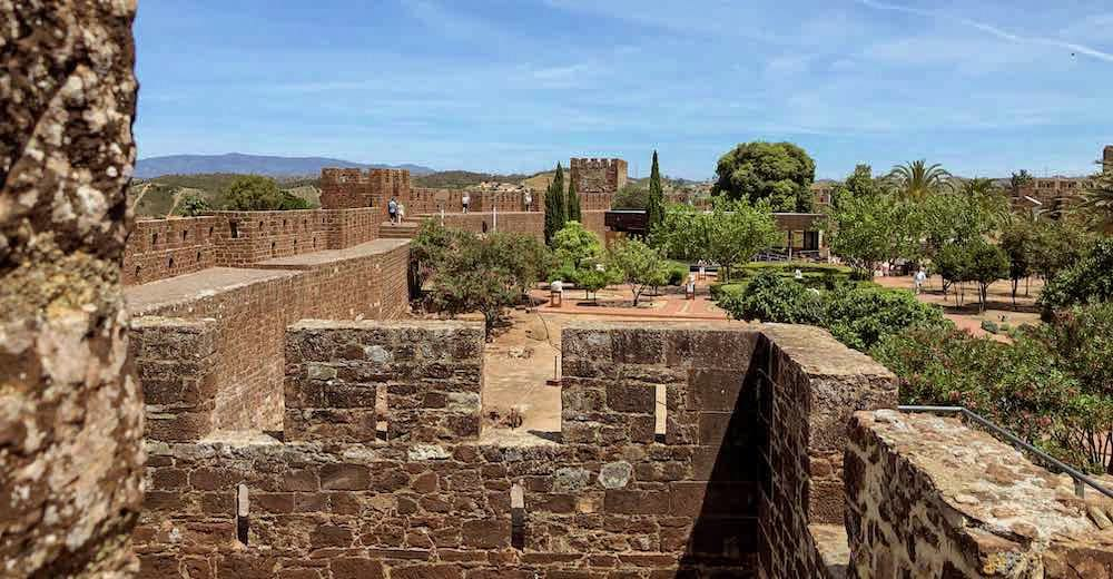 A day trip to the Moorish Silves Castle is one of the best things to do in Carvoeiro Portugal Algarve