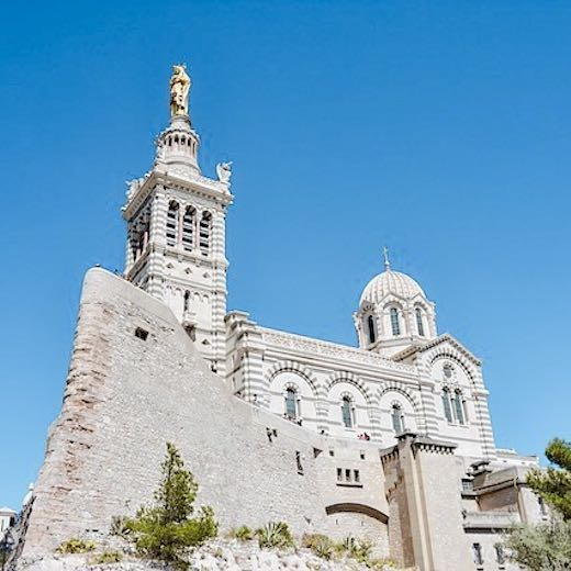 Visiting the Notre Dame de la Garde Basilique is one of the recommended things to do in Marseille France