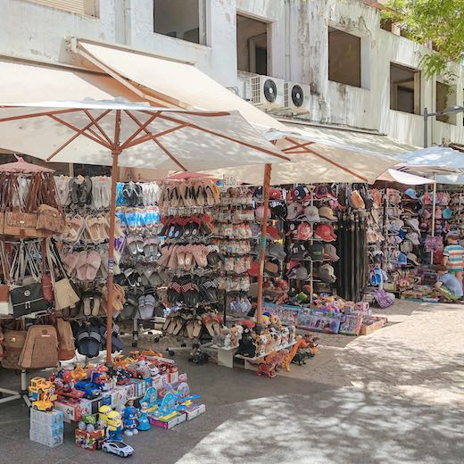 Souvenir shops in Albufeira the best area to stay in Algarve Portugal for party-people