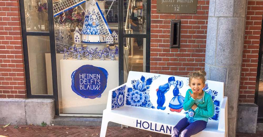 Delft Blue store near the Flower Market is the place to buy a souvenir during your Amsterdam itinerary