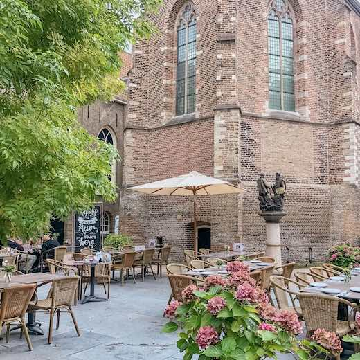 Museum café in Gouda The Netherlands