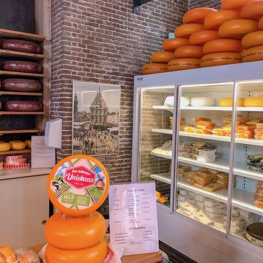 Gouda cheese shop in cheese museum Gouda in the Netherlands