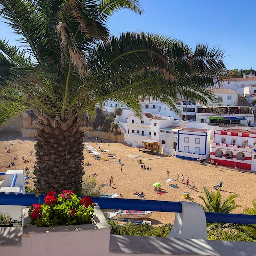The town of Carvoeiro makes for an excellent day trip from Faro Algarve