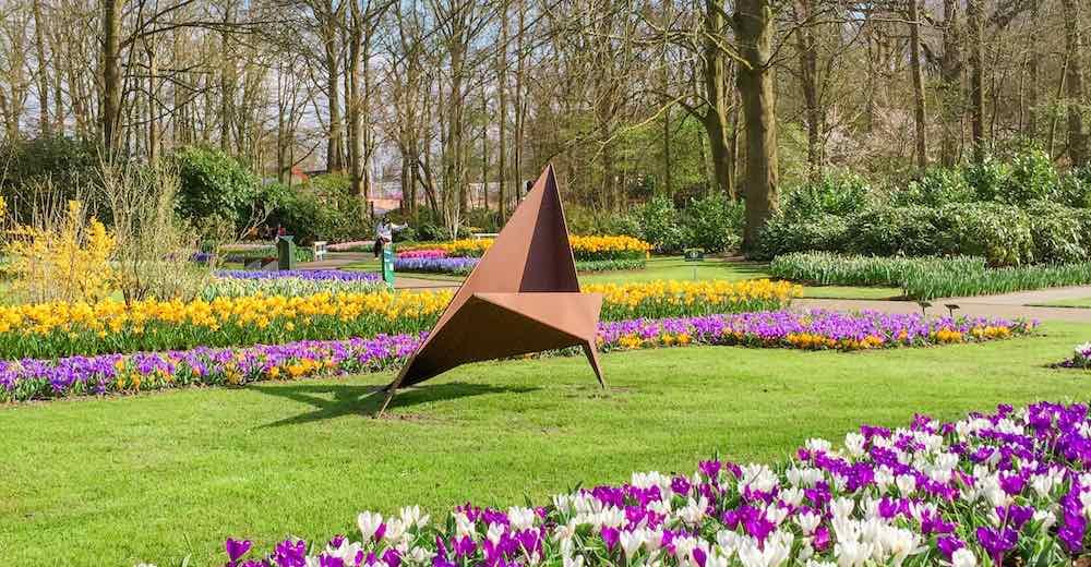 Artwork at the grounds of the Keukenhof Gardens Netherlands