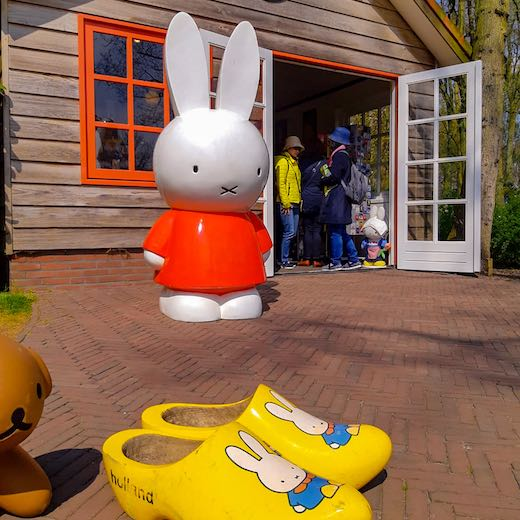 Miffy theme is just one of the attractions for kids at the Keukenhof tulip garden netherlands