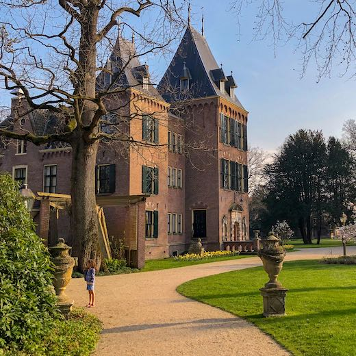 Keukenhof Castle is located near the tulip garden and you don't need Keukenhof tickets to explore the grounds