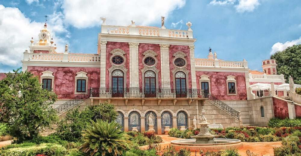 A visit to to Palácio de Estoi is one of the top things to do in Faro Portugal