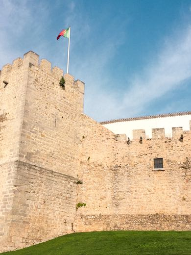 The castle in Loule near Faro Portugal