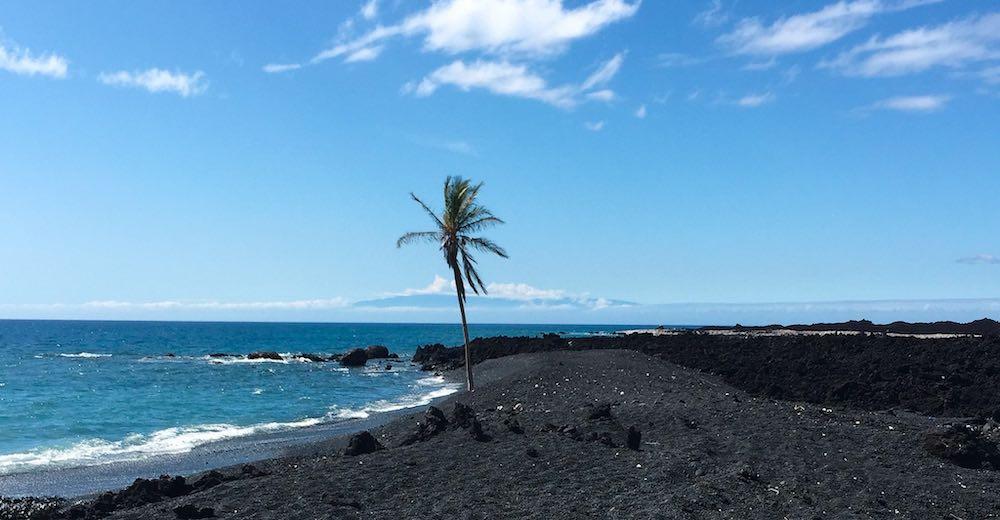 Keawaiki is one of the black sand beaches Big Island Hawaii