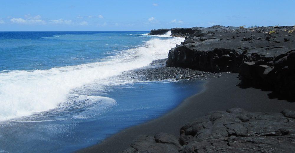 Makolea black sands beach hawaii  is one of the Kona beaches