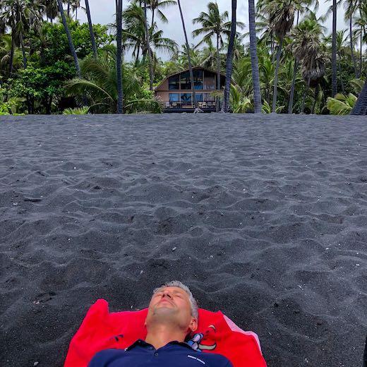 Punaluu black sand beach Hawaii