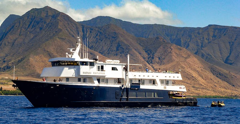 UnCruise Safari Explorer for luxury transportation between hawaiian islands