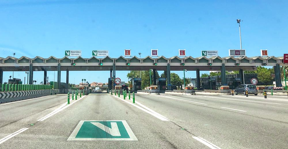 Toll needs to be taken into account when driving in Portugal is part of your Portugal itinerary