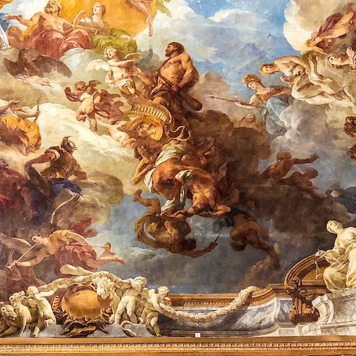 Paintings on the ceilings of the Castle of Versailles