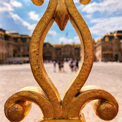 Gate detail at Versailles Paris