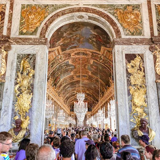 The highlight of all Versailles tours is the Hall of Mirrors at Versailles