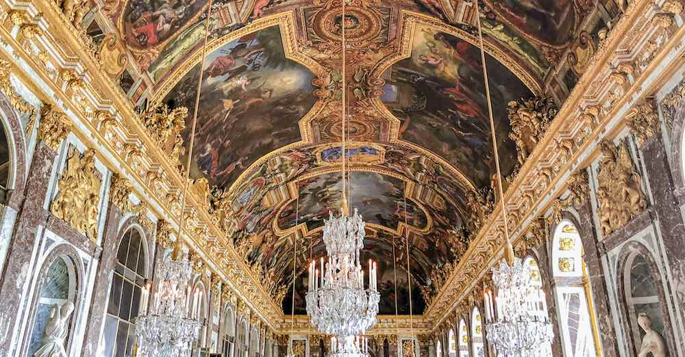 Hall of Mirrors in Versailles Paris
