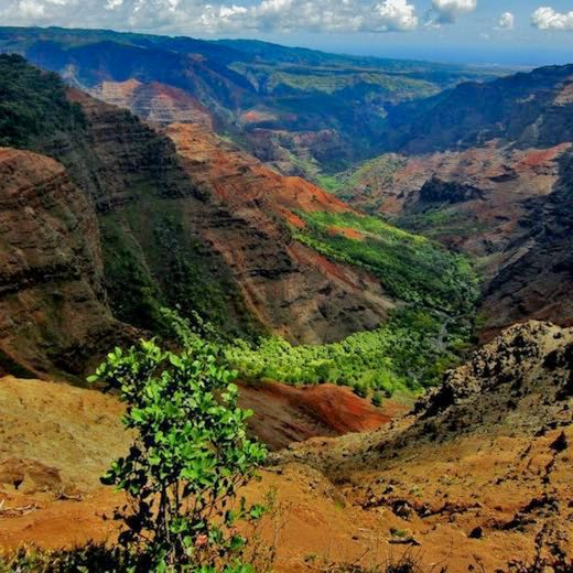 Kauai best Hawaiian island for families who love outdoor travel adventures like Waimea Canyon