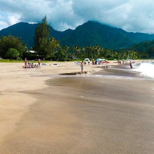 Kauai is the best Hawaii island for families that love beaches hidden in between rugged cliffs