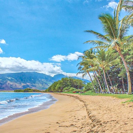 Many Maui kids activities involve a beach
