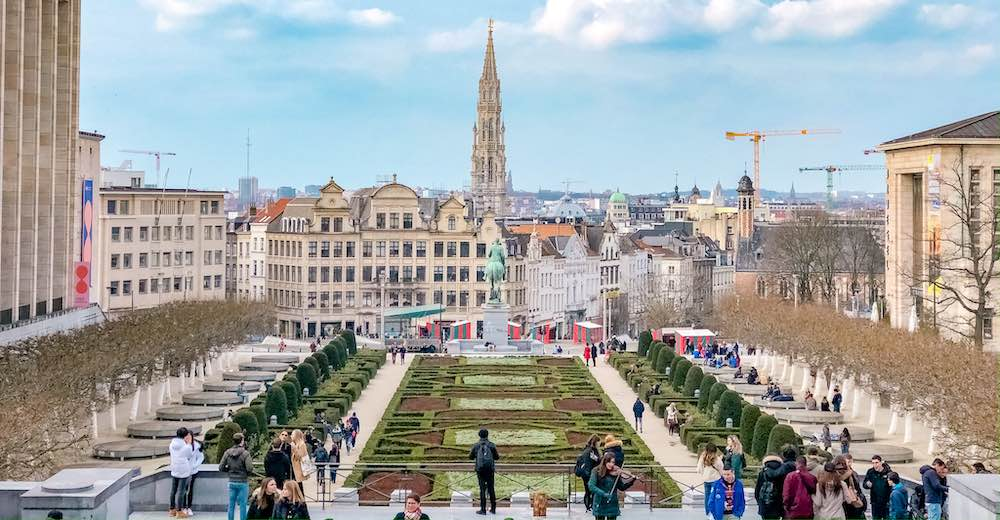 The Mont des Arts is one of the most scenic places to visit in Brussels