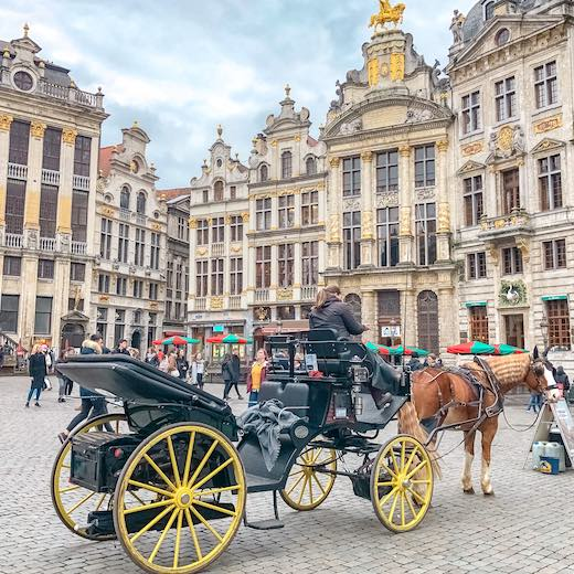 Go for a classic carriage ride during your Brussels one day itinerary