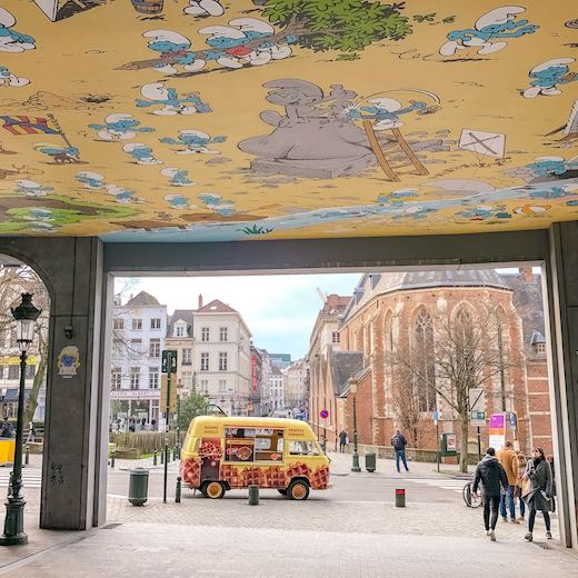 What to do in Brussels in one day is checking out the different comic strips murals