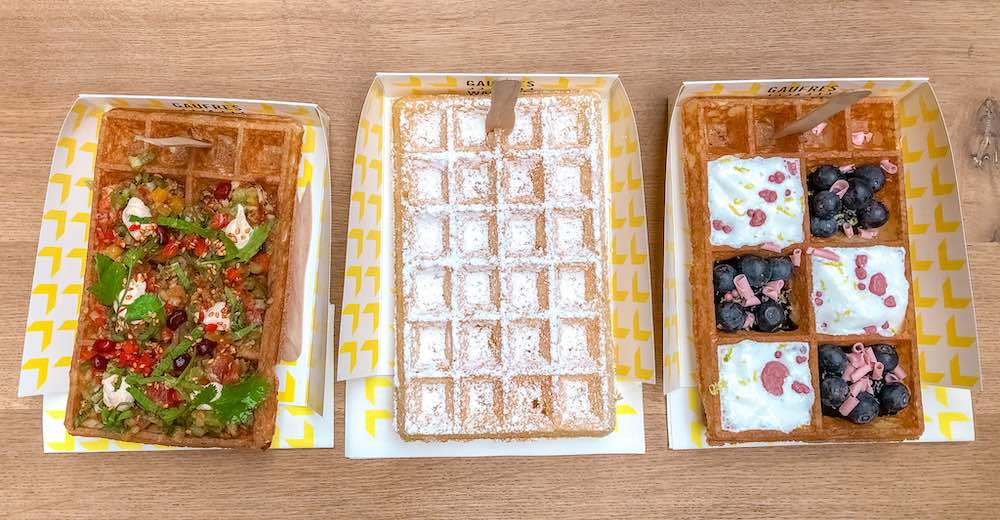 Three of the best waffles in Brussels Belgium