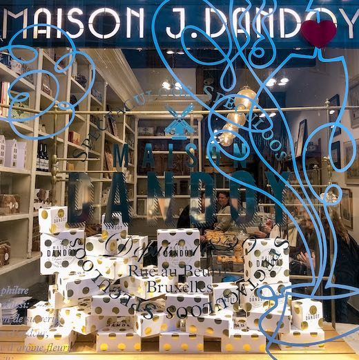 Front of the Maison Dandoy Brussels boutique store, the place to go for the best waffles Brussels
