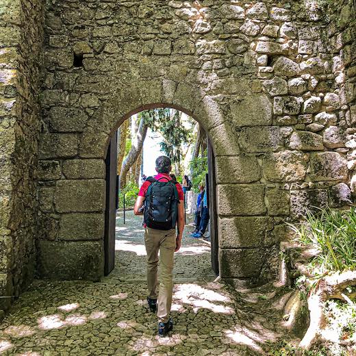 The Castelo dos Mouros is a Sintra Palace that consists of winding walls leading to the mountain peak