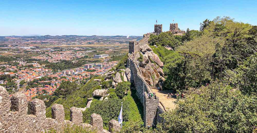 Visiting the Moorish Castle is a must when taking a day trip from Lisbon to Sintra